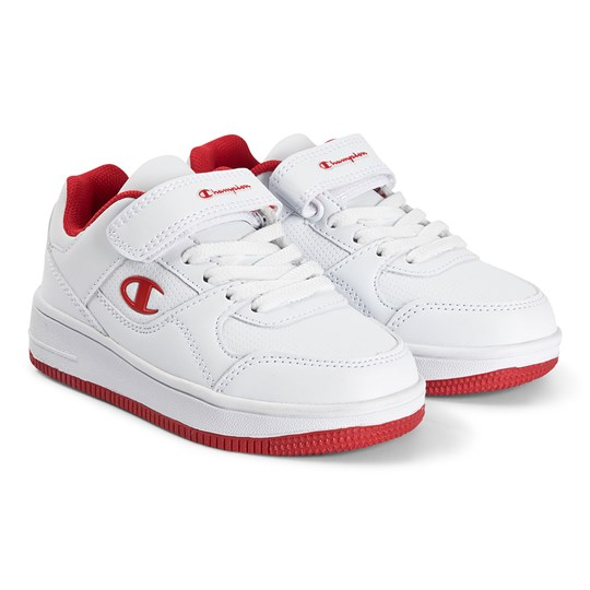 Champion Rebound Low Junior Sneakers Vit Wht/red