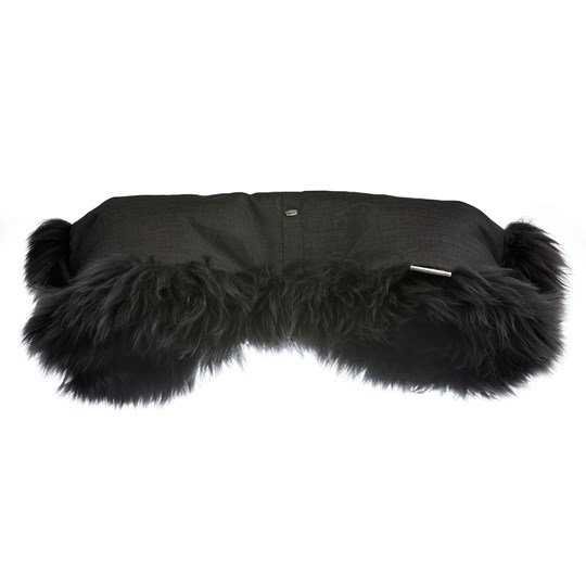 BOZZ Long Wool Sheepskin Hand Warmer Black Melange/Grey Black Melange Grey