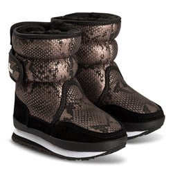 Rubber Duck Faux Leather Boots Snake