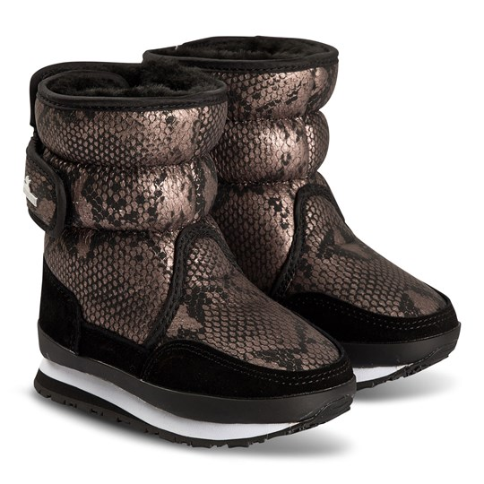 Rubber Duck Faux Leather Boots Snake Snake