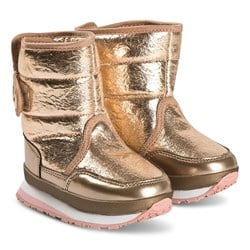 Rubber Duck Cracked Boots Rose Gold