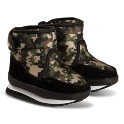 Rubber Duck Mid Boots Camo Green