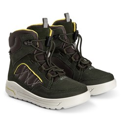 ECCO Urban Snowboarder Boots Deep Forest and Canary