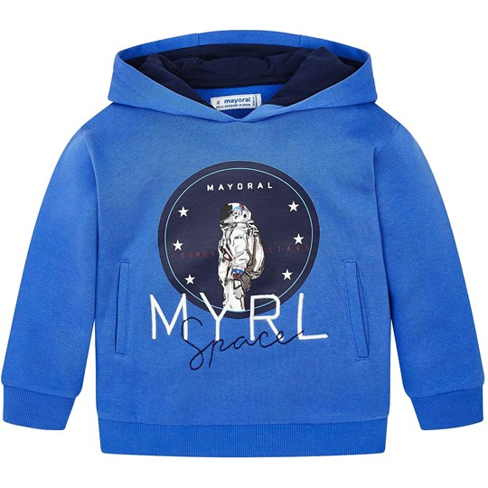 Mayoral Space Astronaut Embroidered Hoodie Blue 24