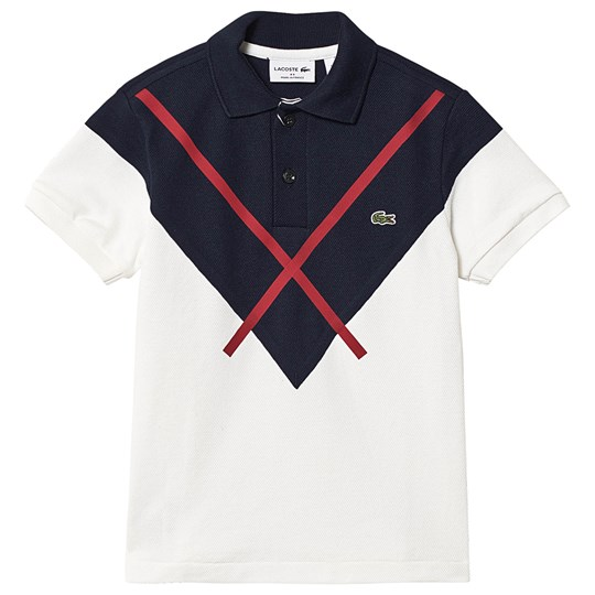 Lacoste Technical Pique Polo White/Navy 2J1