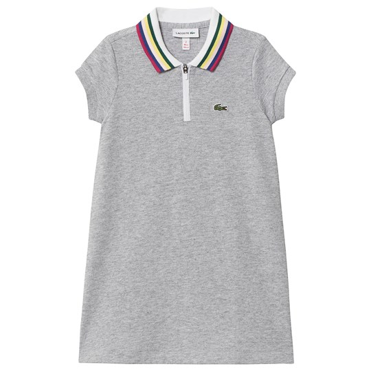 Lacoste Pique Polo Dress Grey CCA