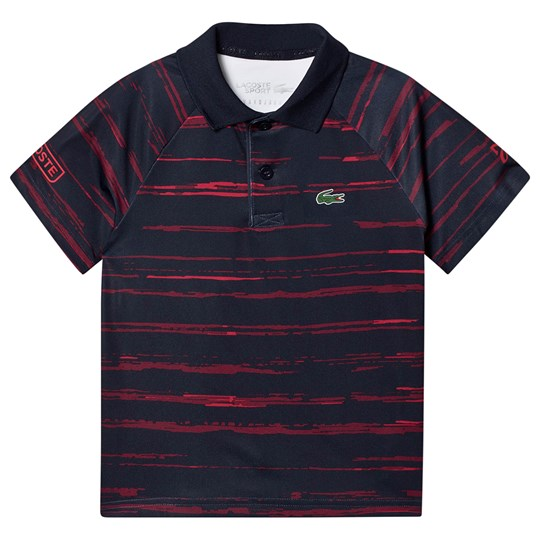 Lacoste Djokovic Tennis Tech Polo Navy/Red 4AT