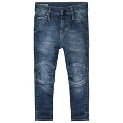 G-STAR RAW Mid Wash Knee Patch Tapered Jeans