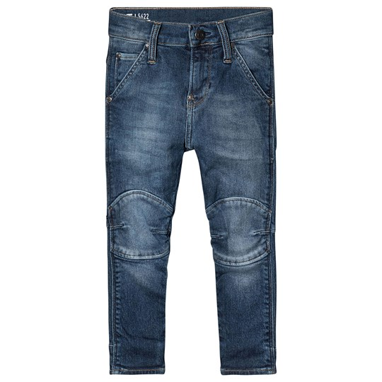 G-STAR RAW Mid Wash Knee Patch Tapered Jeans 46