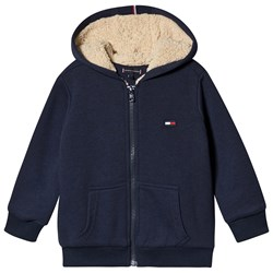 Tommy Hilfiger Soft Teddy Lined Full Zip Hoodie Navy