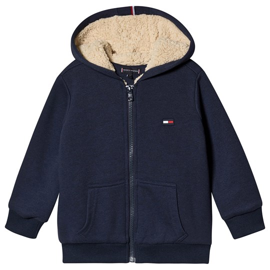 Tommy Hilfiger Soft Teddy Lined Full Zip Hoodie Navy CBK