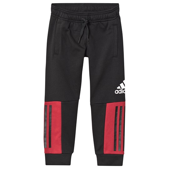 adidas Performance SID Sweatpants Black/Red black/active maroon