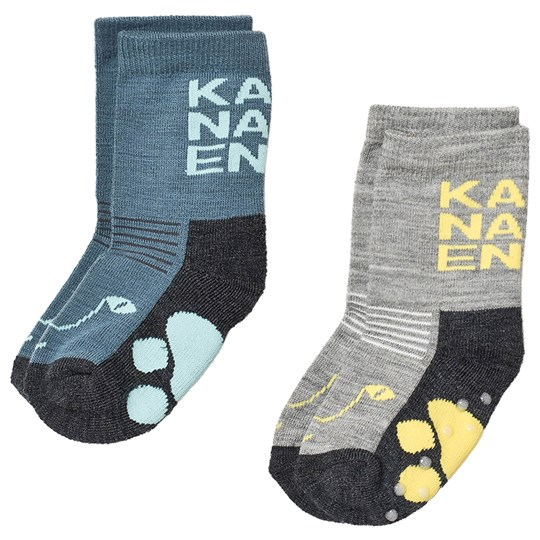 Kattnakken 2-Pack Wool Socks Normal Blue Blue