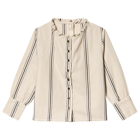 Little Creative Factory Button Up and Ruffle Collar Blouse Cream Cream
