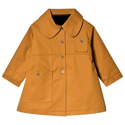 Little Creative Factory Coat with Detachable Faux Fur Lining Mustard