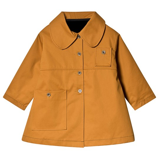 Little Creative Factory Coat with Detachable Faux Fur Lining Mustard Ochre