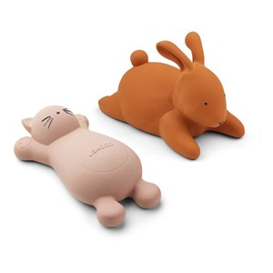 Image of Liewood 2-Pack Vikky Bath Toys Cat/Rose One Size (1356952)