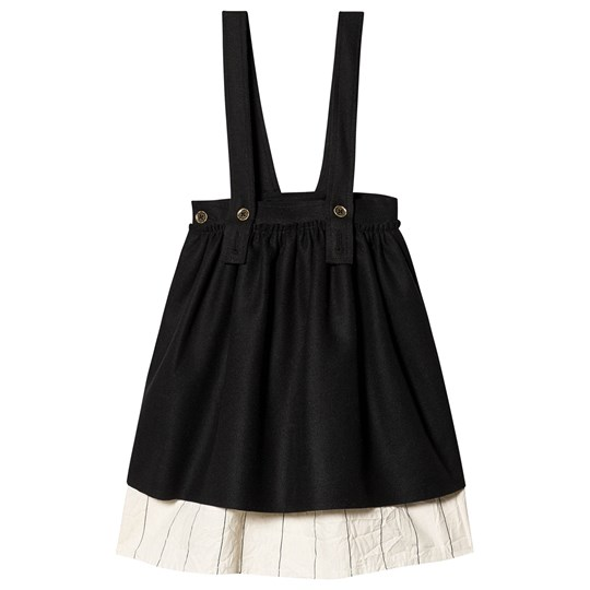 Little Creative Factory Cotton Tailored Double Layer Skirt Black Black