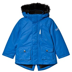 Image of Muddy Puddles Blue Parka Coat med Kunstpelskant 3-4 years (1482695)