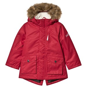 Image of Muddy Puddles Bordeaux Parka Coat med Kunstpelskant 9-10 years (1482707)