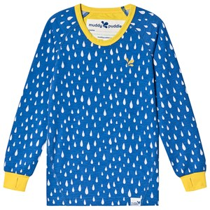Image of Muddy Puddles Blue Raindrop Print Drift Baselayer Top 5-6 years (1482799)