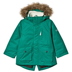 Muddy Puddles Explorer Parka Jacket Forest Green