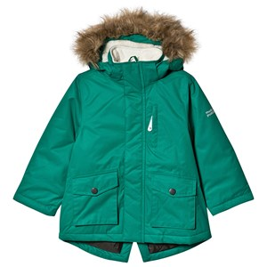 Image of Muddy Puddles Grøn Parka Coat med Kunstpelskant 3-4 years (1482711)