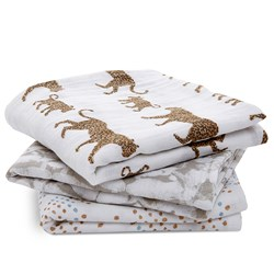 Aden + Anais 3-Pack Classic Musy Squares Hear Me Roar