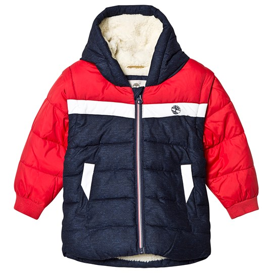 Timberland Water Repellent 2 in 1 Coat and Gilet Navy/Red Z40