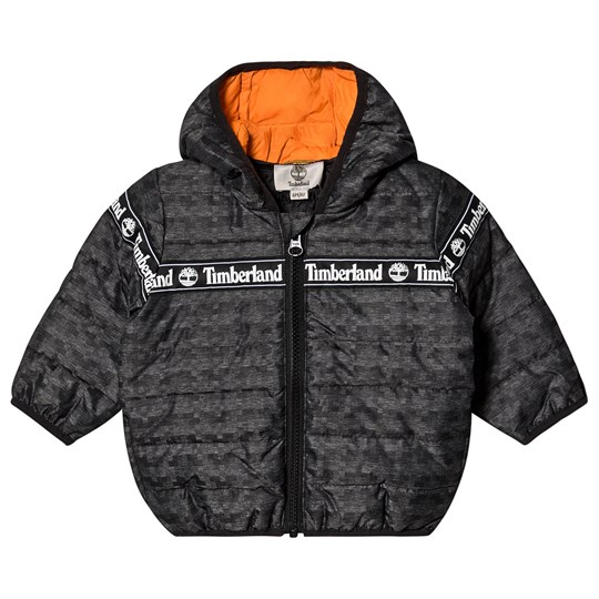 Timberland Logo Tape Puffer Jacket Dark gray Z40