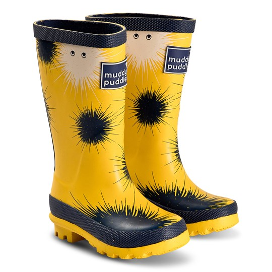 Muddy Puddles Puddlestomper Rain Boots Yellow Sulpher Yellow