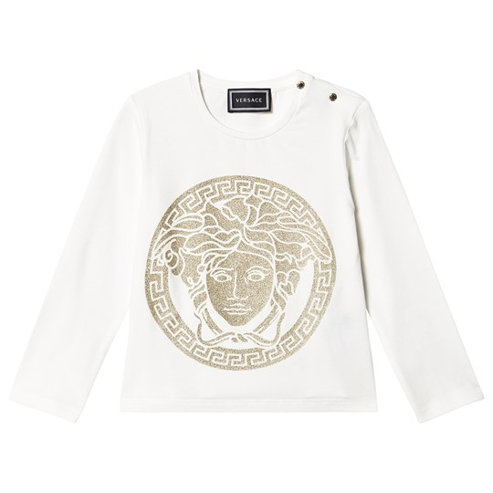 Versace Medusa Long Sleeve Tee White YA002