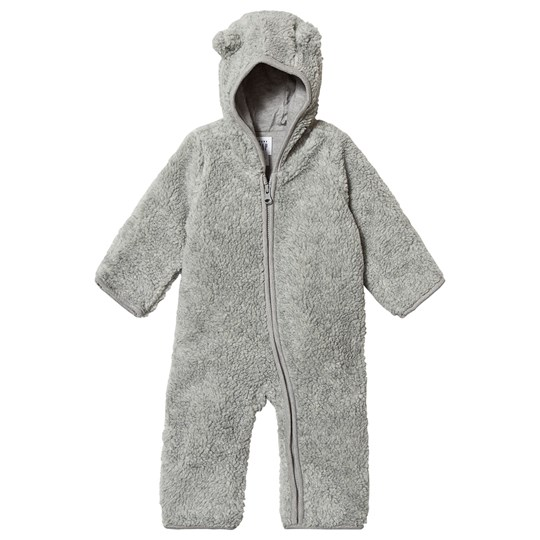 Gap Baby Bear Sherpa Onesie Light Heather Grey Light Heather Grey B08