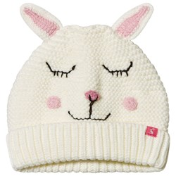 Joules Bunny Knitted Chummy Beanie Cream