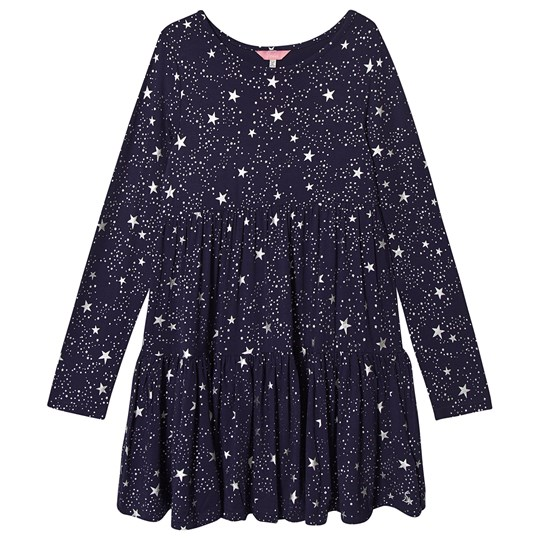 Tom Joule Toni Tiered Dress Navy Navy Star