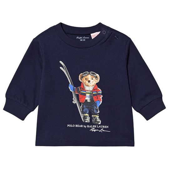 Ralph Lauren Ski Bear Long Sleeve Tee Navy 003