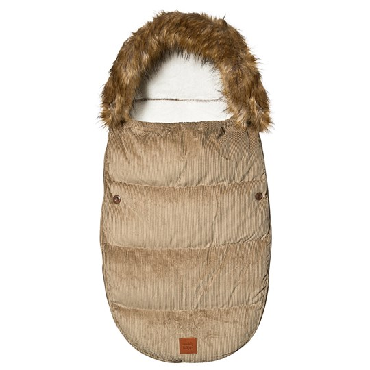 Buddy & Hope Corduroy Footmuff Pile Beige