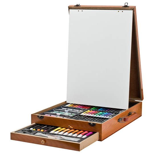 Art Park Art Park Paint kit Deluxe Wooden Box with Easel 122 pcs