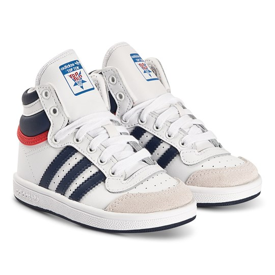 adidas Originals Top Ten Infant Sneakers White and Blue FTWR WHITE/DARK BLUE/RED