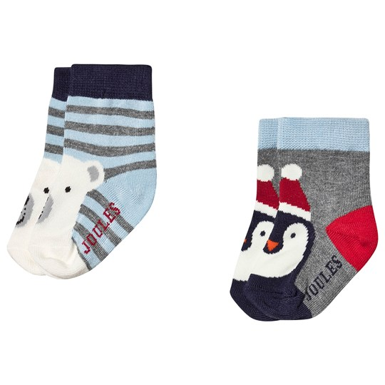 Tom Joule 2-Pack Bear & Penguin Infants Socks Blue/Multi Multi Bear Penguin