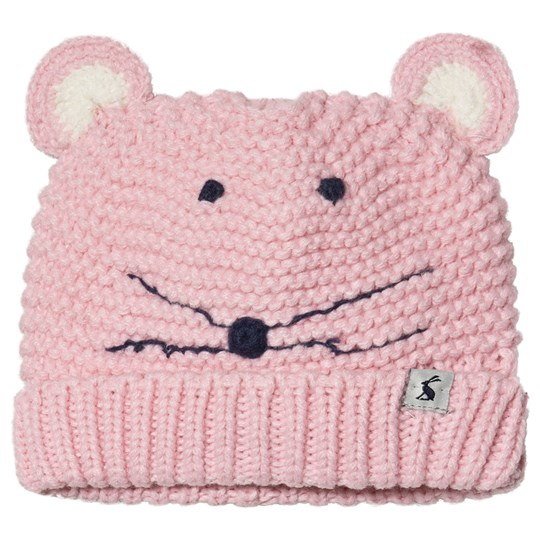 Tom Joule Mouse Character Chummy Infants Beanie Pink Pale Pink Mouse