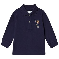 Ralph Lauren Ski Bear Long Sleeve Polo Navy