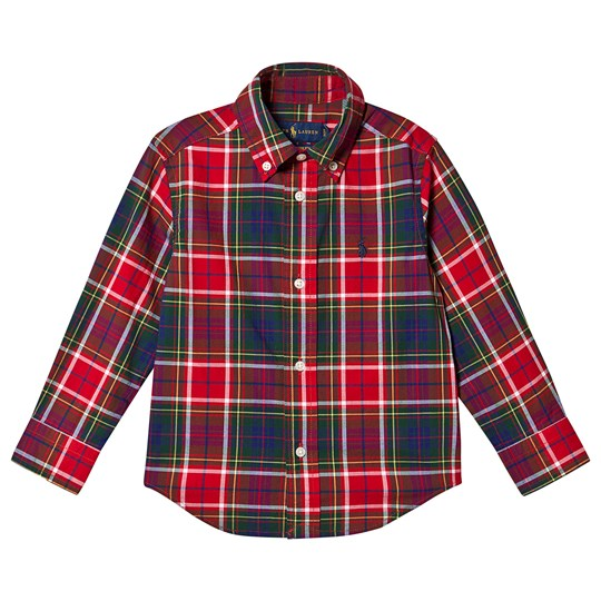 Ralph Lauren Multi Check Shirt Green and Red 003