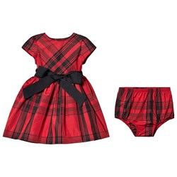 Ralph Lauren Tartan Baby Dress Red