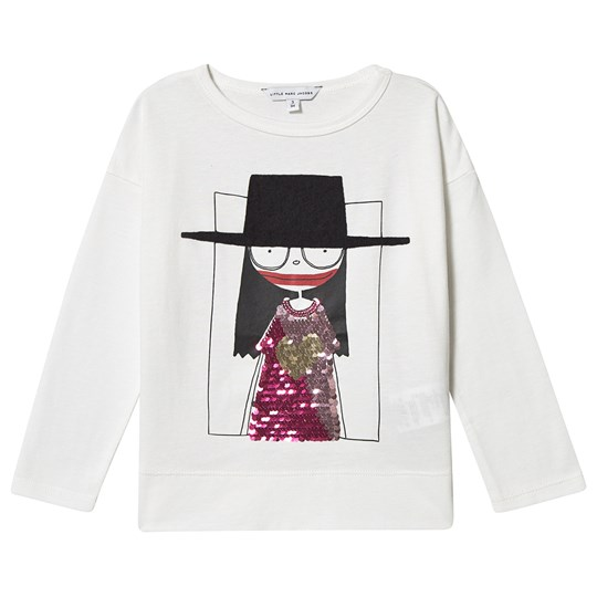 Little Marc Jacobs Miss Marc Long Sleeve Tee Off White 177