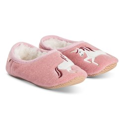 Joules Unicorn Mule Slippers Pink
