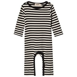 MarMar Copenhagen Plain Rompy One-Piece Black and Off White