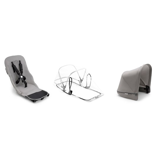 Bugaboo Donkey² Duo Fabric Set Complete Mineral Light Grey Light Grey