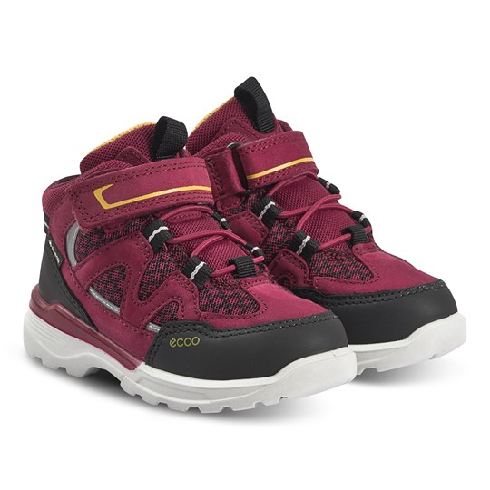 ECCO Urban Hiker Shoes Black and Red Plum Black/Red Plum