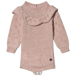 Tocoto Vintage Knitted Baby Body Rosa